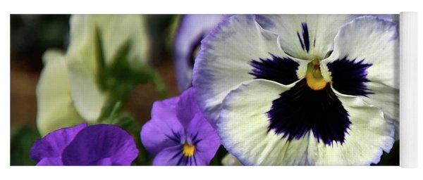 Spring Pansy Flower Yoga Mat