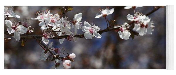 Spring White Blossom Yoga Mat