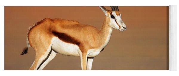 Springbok On Sandy Desert Plains Yoga Mat