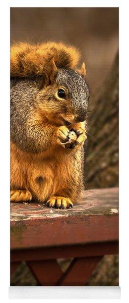 Squirrel Eating A Peanut Yoga Mat