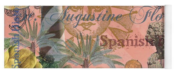 St. Augustine Florida Vintage Collage Yoga Mat