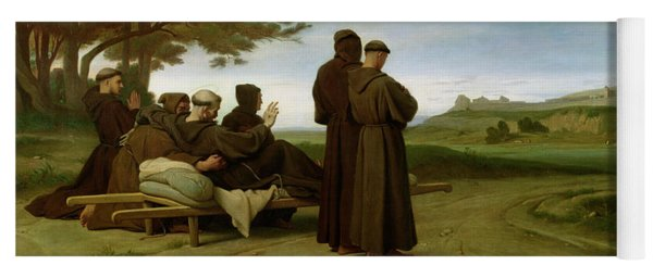 Saint Francis Of Assisi, While Being Carried To His Final Resting Place At Saint-marie-des-anges Yoga Mat