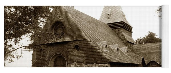 St. Johns Chapel Del Monte Monterey California 1895 Yoga Mat