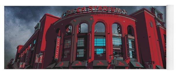 St. Louis Busch Stadium Cardinals 9162 Art Yoga Mat
