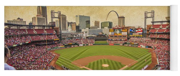 St. Louis Cardinals Busch Stadium Texture 9252 Yoga Mat