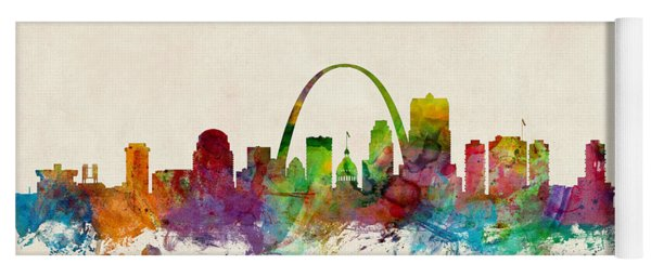 St Louis Missouri Skyline Yoga Mat