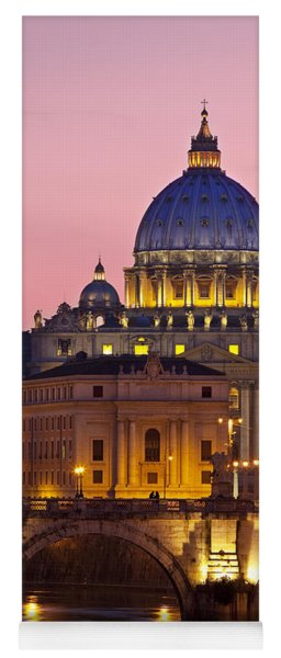 Yoga Mat featuring the photograph St Peters Basilica by Brian Jannsen