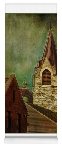 St Peter's By Night Greeting Card Yoga Mat