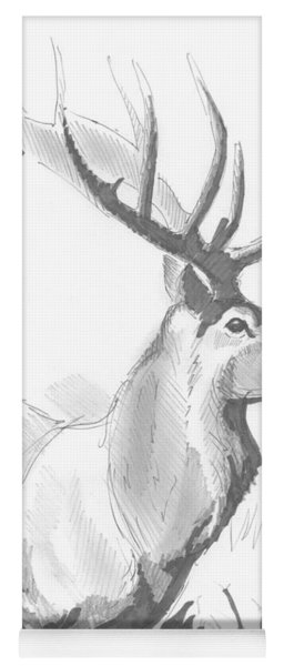 Stag Drawing Yoga Mat