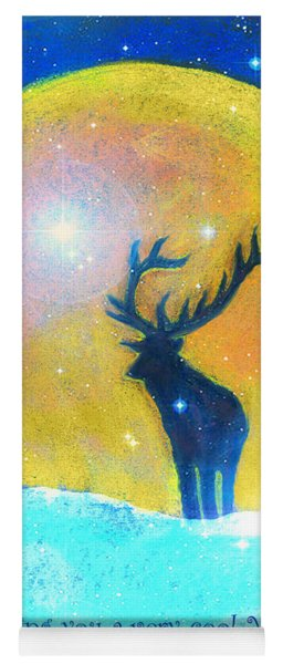 Stag Of Winter Yoga Mat