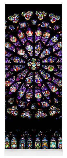 Stained Glass At Notre Dame Yoga Mat