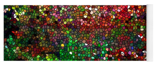 Stained Glass  Fall Reflected In The Still Waters Yoga Mat