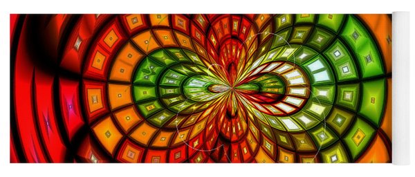 Stained Glass Fruit Salad Yoga Mat