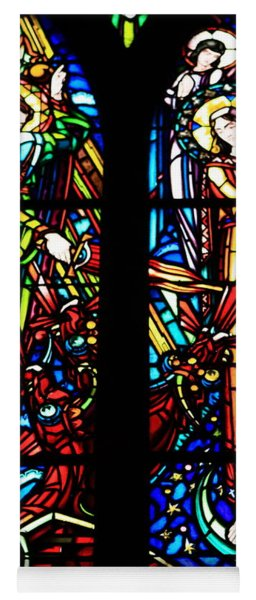 Stained Glass Window At Mont  Le Saint-michel Yoga Mat