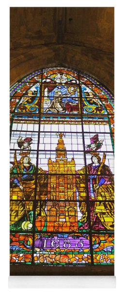 Stained Glass Window In Seville Cathedral Yoga Mat