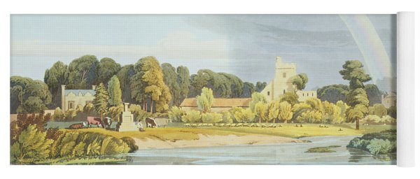 Staines Church With City Stone On Banks Yoga Mat
