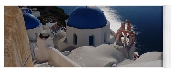 Stairway To The Blue Domed Church Yoga Mat
