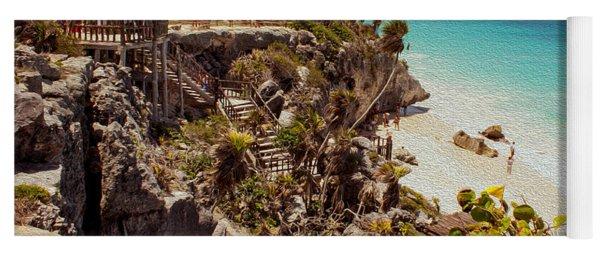 Stairway To The Tulum Beach  Yoga Mat
