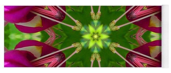 Star Fuchsia 1 Mandala Yoga Mat