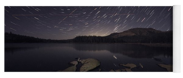 Star Trails Over Silver Lake Resort Yoga Mat