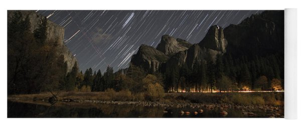 Star Trails Over Yosemite Yoga Mat