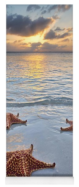 Starfish Beach Sunset Yoga Mat