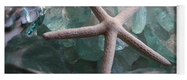 Starfish With Sea Glass Yoga Mat