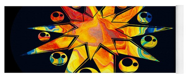 Staring Into Eternity Abstract Stars And Circles Yoga Mat