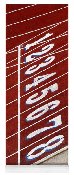 Track Starting Line Yoga Mat