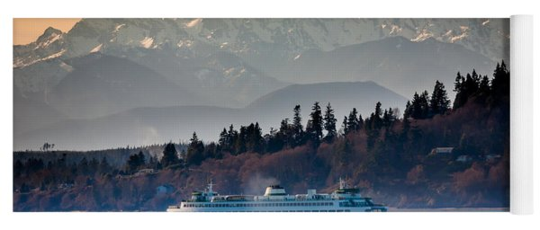 State Ferry And The Olympics Yoga Mat