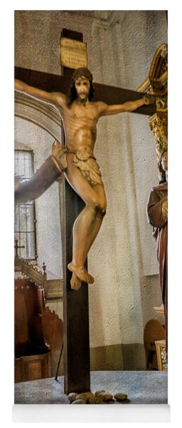 Statue Of Jesus Yoga Mat
