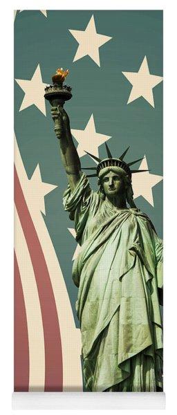 Statue Of Liberty Yoga Mat