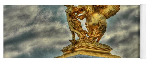 Statue On Pont Alexandre IIi Yoga Mat
