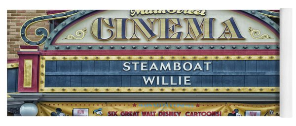 Steam Boat Willie Signage Main Street Disneyland 01 Yoga Mat