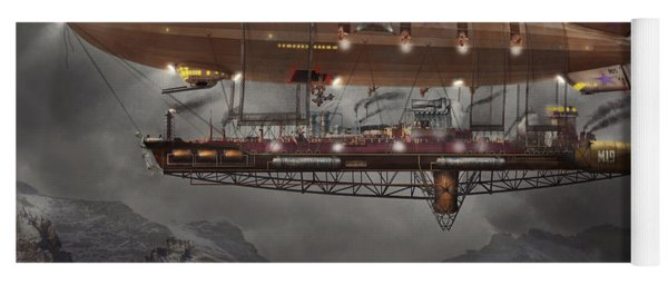 Steampunk - Blimp - Airship Maximus  Yoga Mat