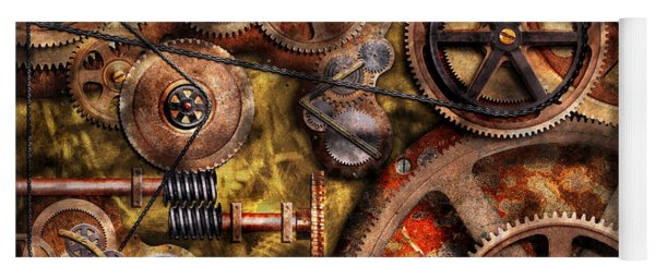 Steampunk - Gears - Inner Workings Yoga Mat