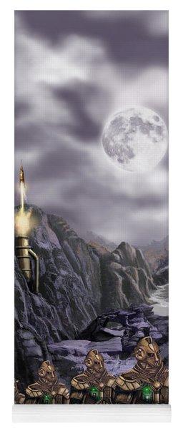 Steampunk Moon Invasion Yoga Mat