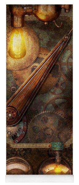 Steampunk - Victorian Fuse Box Yoga Mat