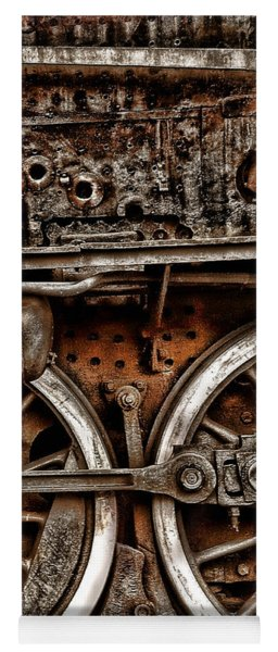 Steampunk- Wheels Locomotive Yoga Mat