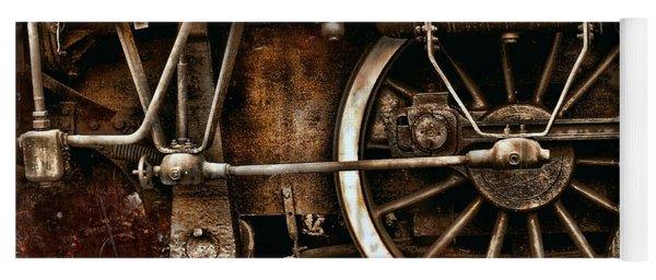 Steampunk- Wheels Of Vintage Steam Train Yoga Mat