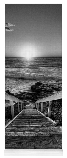 Steps To The Sun  Black And White Yoga Mat