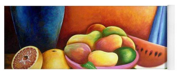 Still Life Of Fruits Yoga Mat