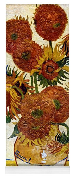 Still Life With Sunflowers Yoga Mat