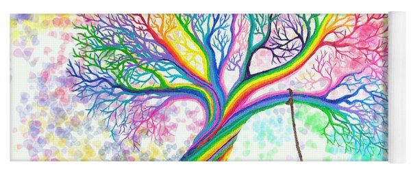Still More Rainbow Tree Dreams Yoga Mat