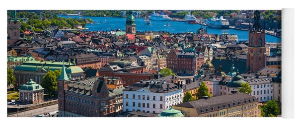 Stockholm From Above Yoga Mat