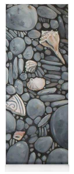 Stone Beach Keepsake Rocky Beach Shells And Stones Yoga Mat