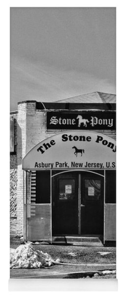Stone Pony In Black And White Yoga Mat