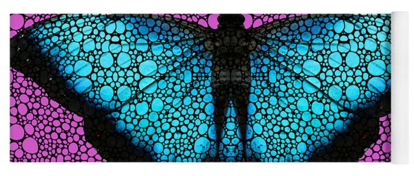 Stone Rock'd Butterfly 2 By Sharon Cummings Yoga Mat