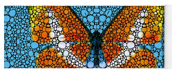 Stone Rock'd Butterfly By Sharon Cummings Yoga Mat