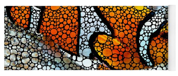 Stone Rock'd Clown Fish By Sharon Cummings Yoga Mat